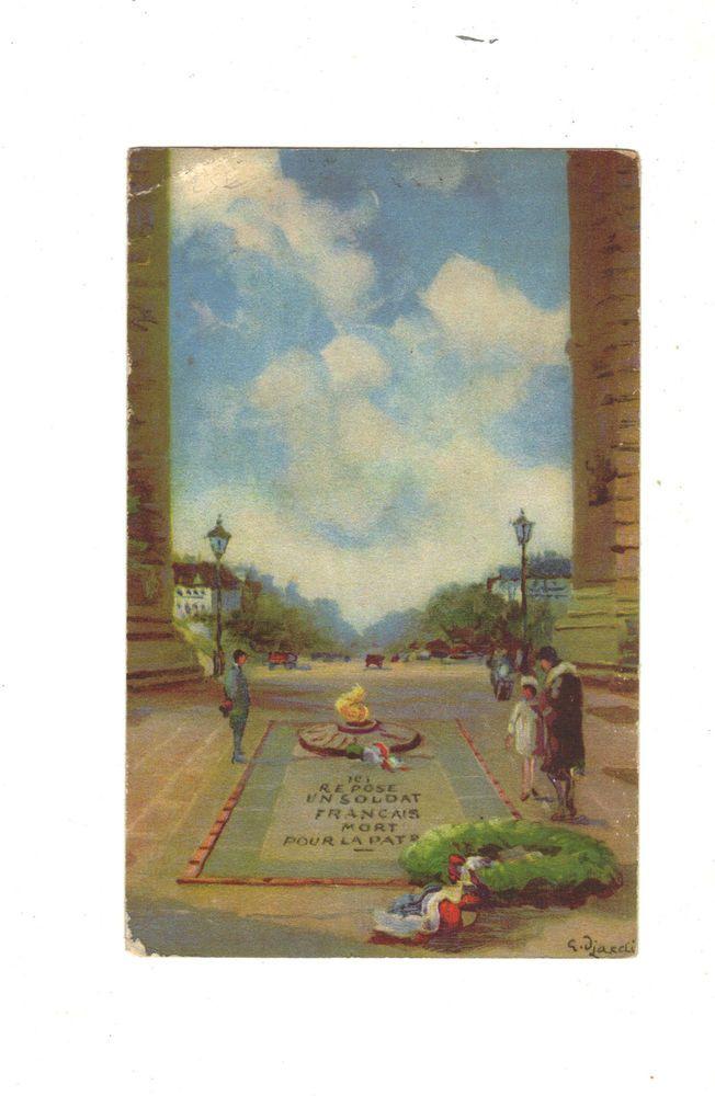 CPA - PARIS (75) - TOMBEAU DU SOLDAT INCONNU - 1932 - voir signature recto