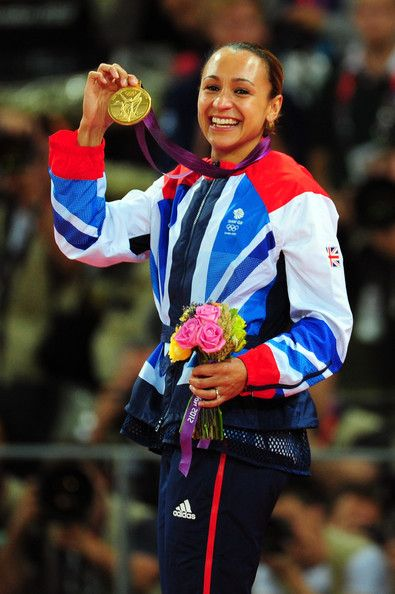 GB's Jessica Ennis Olympics Day 8 - Athletics with gold medal