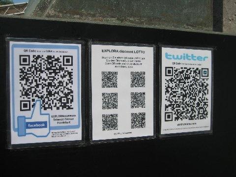 QR-Codes am Explora-Museum Frankfurt