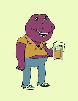 """Barneys"" Art Print by Ross Zietz OMG I love Barney!"