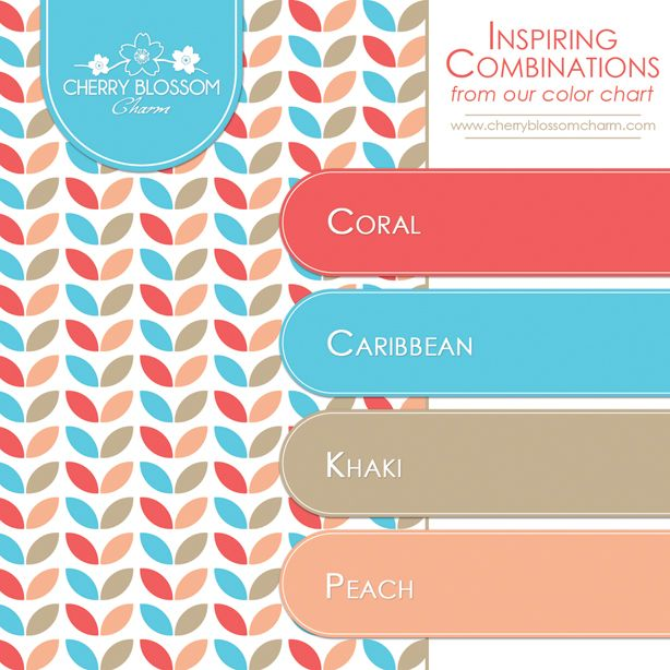 Color combination of coral aqua blue beige and peach for Good color combination for pink