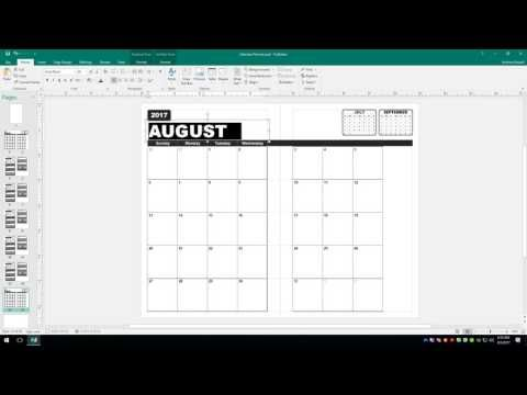 How to Create a Calendar Planner in Microsoft Publisher Part 3 - YouTube