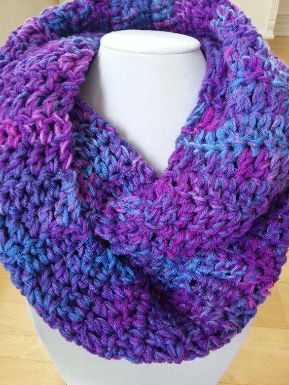Crochet scarf Knit scarf crochet snood Foulard by KnittingMade4you