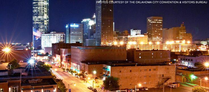 Downtown OKC at night!