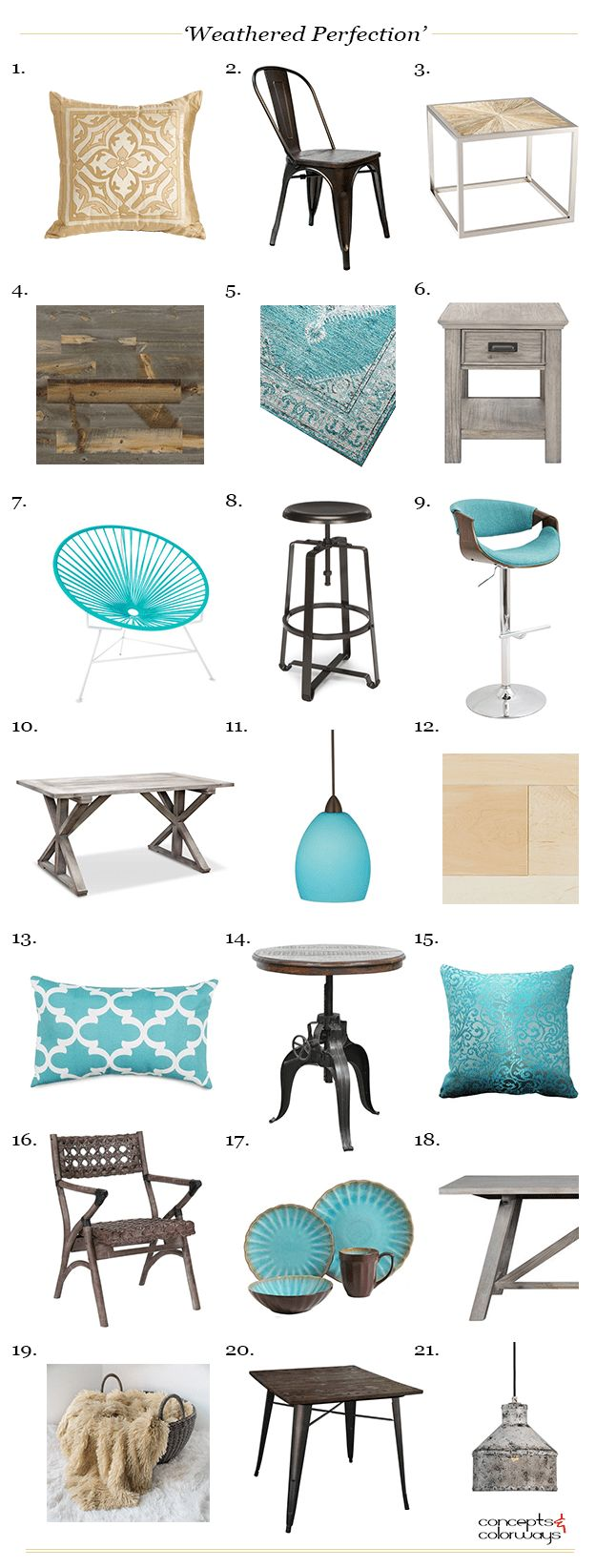 Ombre technique supplies and tips from sherwin williams - Weathered Perfection Product Roundup Interior Design Get The Look Turquoise Accents Sherwin Williams