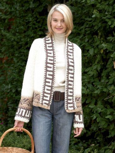 Navajo Cardigan | Yarn | Free Knitting Patterns | Crochet Patterns | Yarnspirations