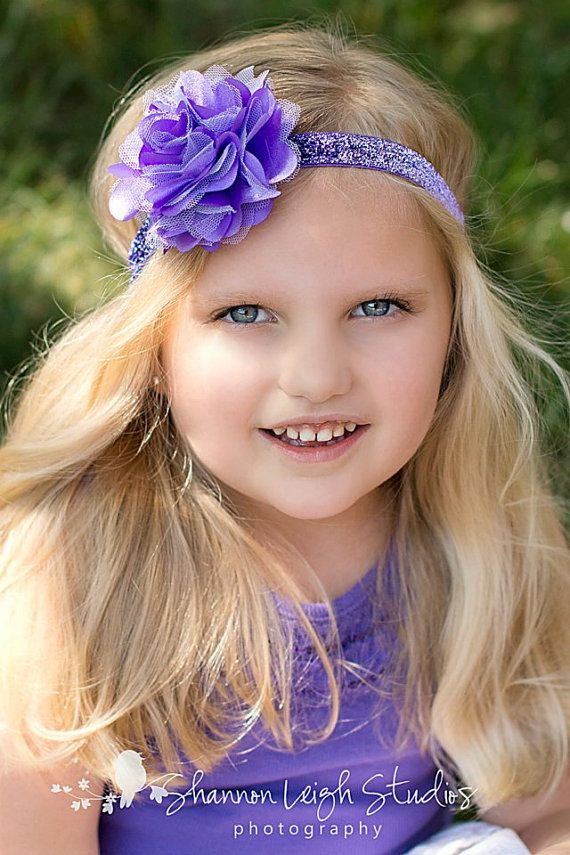 Purple Headband Purple Satin Mesh Flower On by ASweetSweetBoutique, $10.00