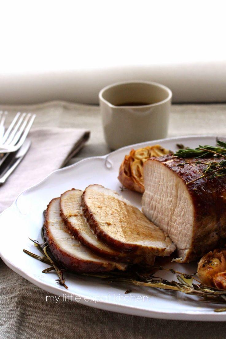 My Little Expat Kitchen: Greek roasted pork loin with petimezi (grape molasses)