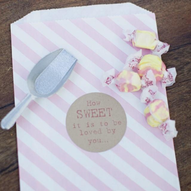 Cute candy favors Wedding Ideas Pinterest
