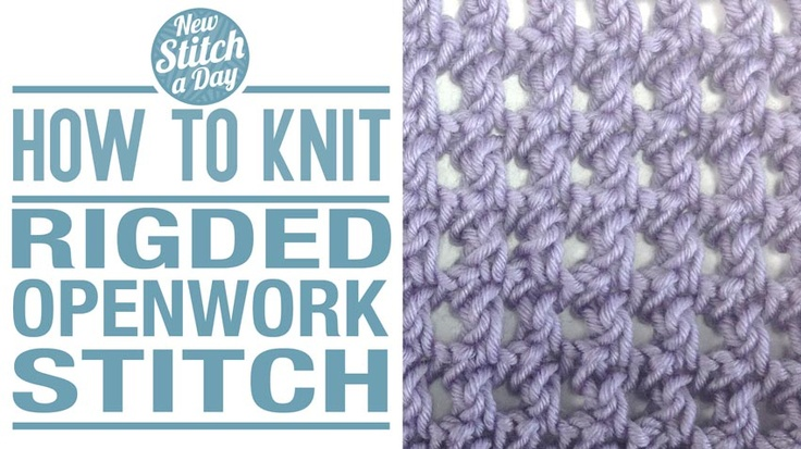 How to Knit the Ridged Openwork Stitch