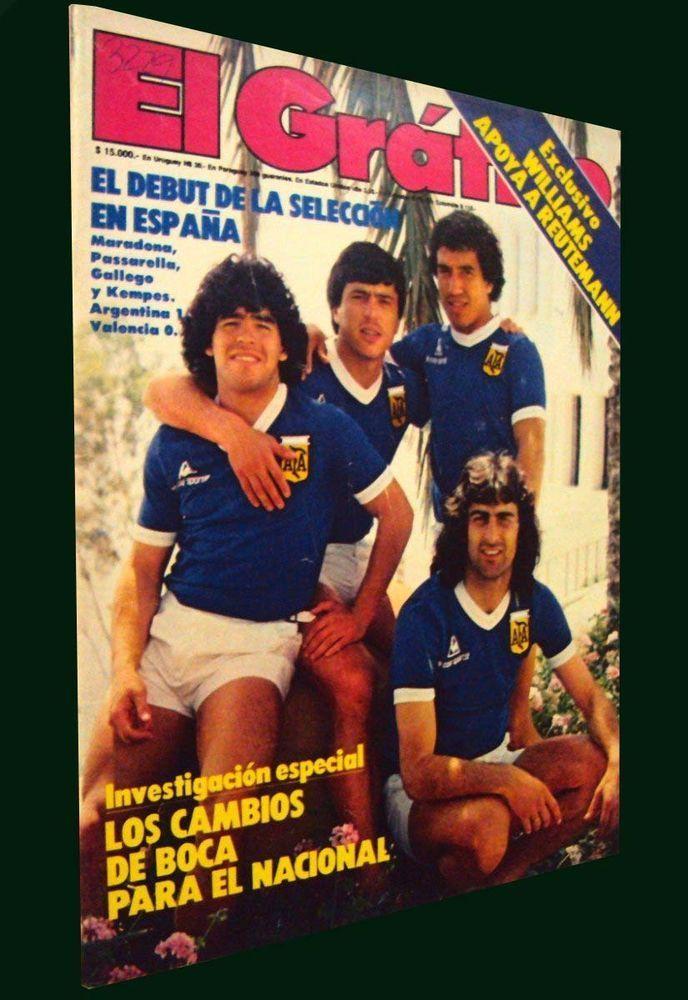DIEGO MARADONA - Argentina Preliminary SOCCER WORLD CUP SPAIN 1982 - Magazine #soccer#utbol#maradona#argentina#worldcup