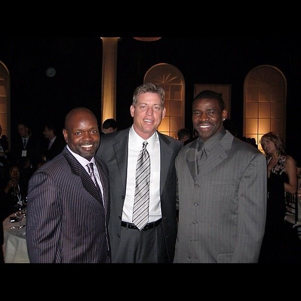"Emmitt Smith, Troy Aikman, Michael Irvin ""the triplets"" #DallasCowboys"