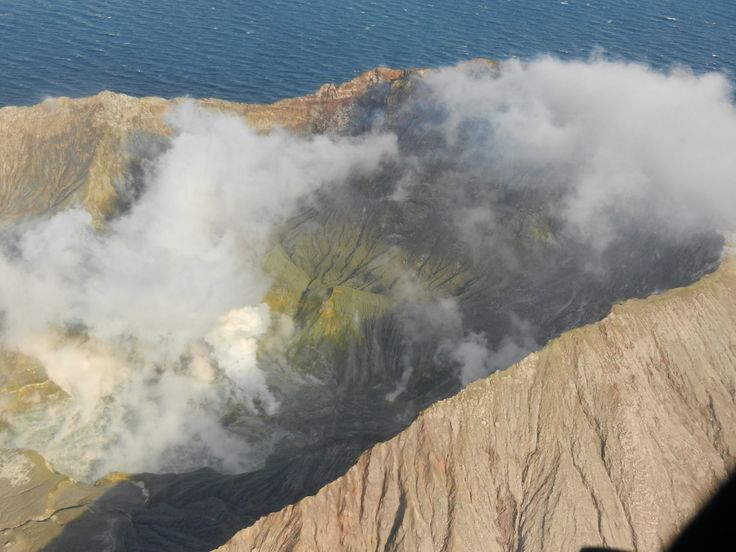 A great Ariel view of the White Island Volcano