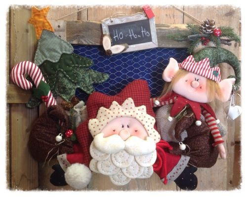 Cartamodelli Babbi Natale ed Elfi 2014 : Cartamodello babbo ed elfo fuoriporta