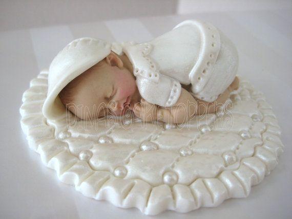 boy BAPTISM CHRISTENING Cake Topper Shower by DinasCakeToppers, $25.00