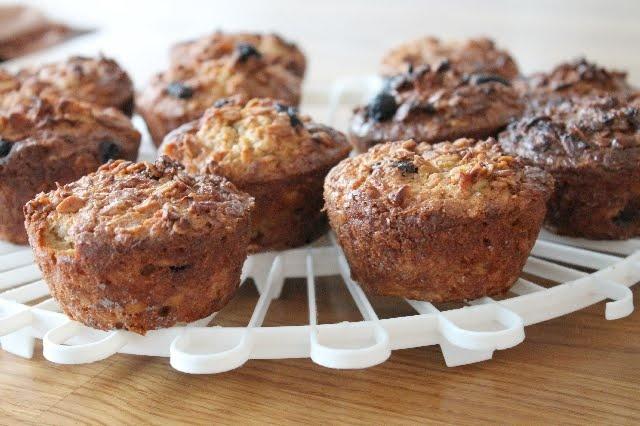 Echt gezond eten: Havermoutmuffins met appel, kaneel en rozijnen
