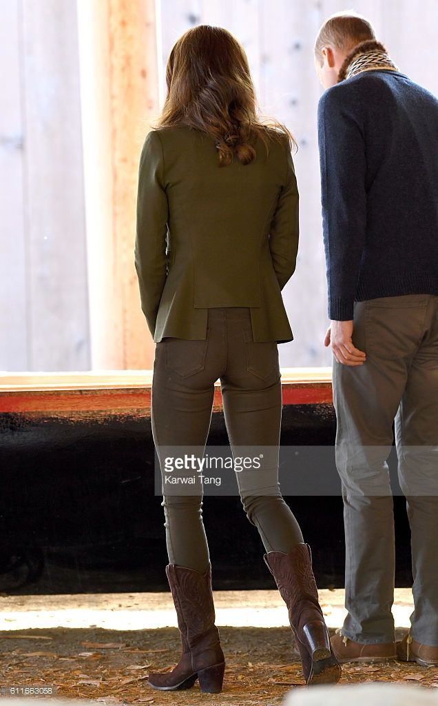 Catherine, Duchess of Cambridge and Prince William, Duke of Cambridge arrive at the Haida Heritage Centre and Museum on September 30, 2016 in Haida Gwaii, British Columbia, Canada.  (Photo by Karwai Tang/WireImage)