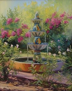 Talavera Fountain  Oil on Canvas  20 x 16   On exhibit at the Courtyard Mariott Gallery, Scottsdale (near Mayo Clinic)