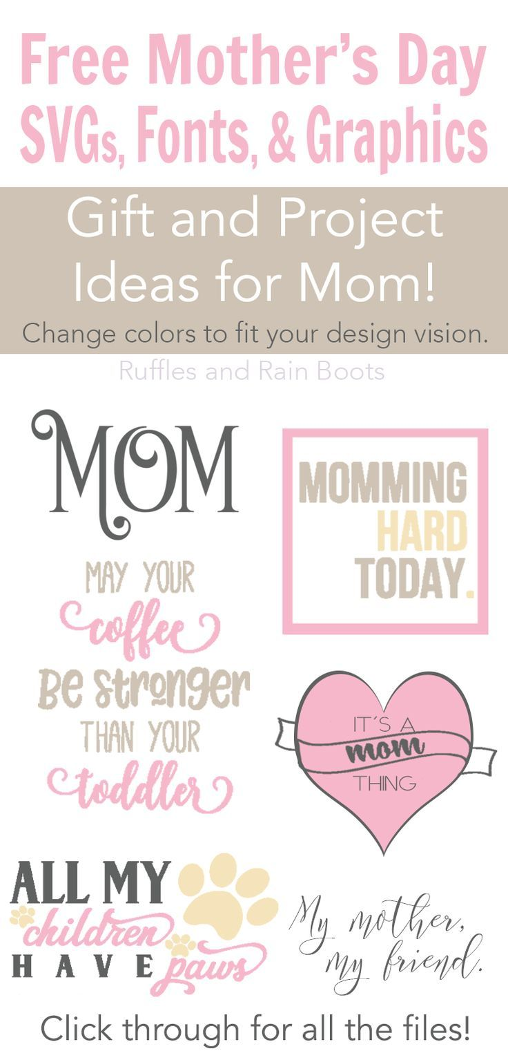 Free If a wish or a gift has touched your heart on mother's day, then say 'thank you'. The Best Free Mother S Day Svg Files Fonts And Graphics Mothers Day Crafts For Kids Mother S Day Diy Mothers Day Crafts SVG, PNG, EPS, DXF File