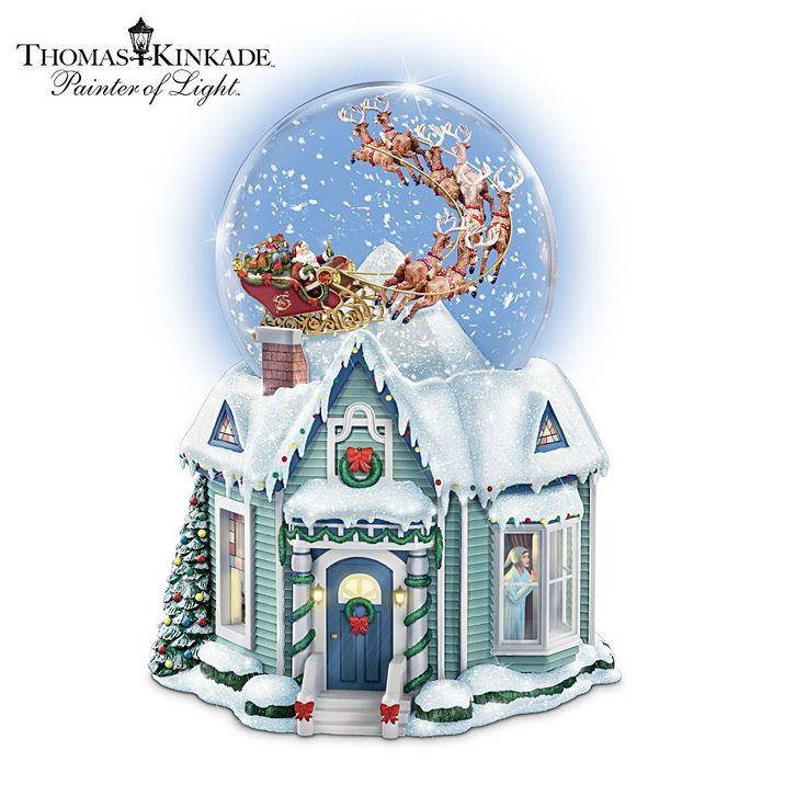 100 Thomas Kinkade Snow Globes Images Pinterest Village Christmas Animated