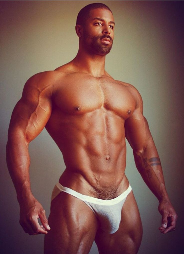 beefy black men nude