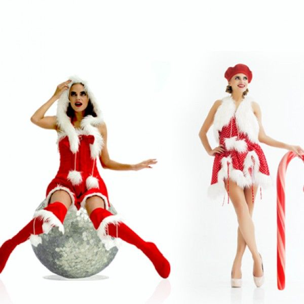 christmas pin up costumes by Patricia Bos  www.the sampleroom.eu