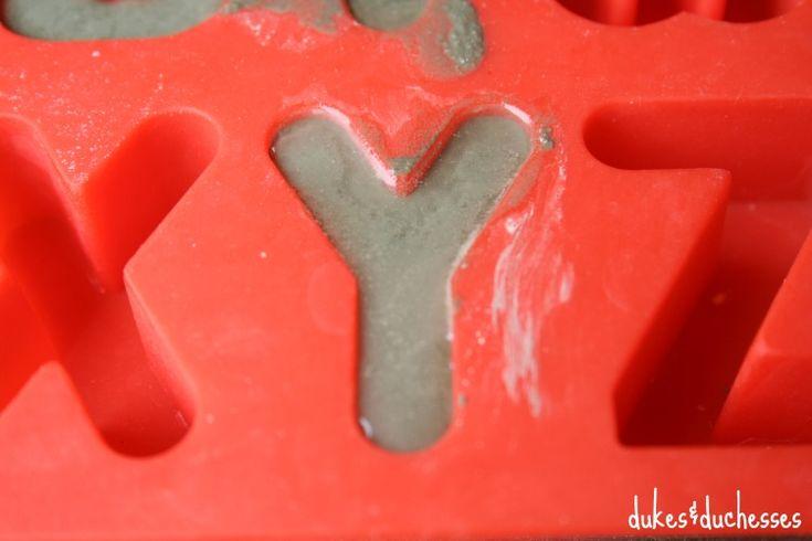 Rubber Concrete Molds Alphabet 103