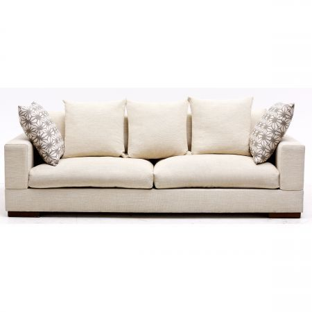 Langley 3-Seater Handcrafter Fabric Sofa | Domayne Online Store