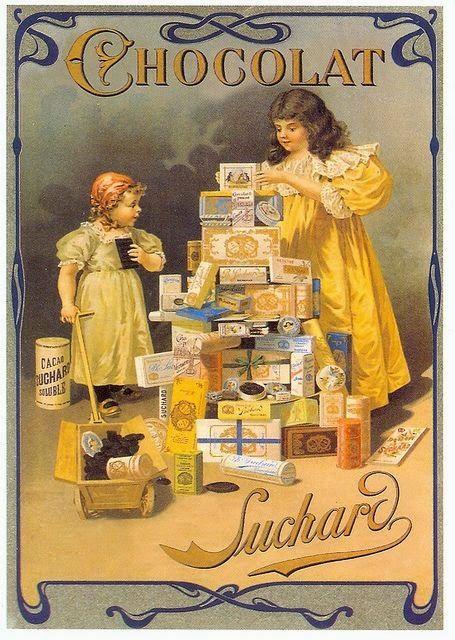 Suchard chocolate, Publicidad vintage, antigua