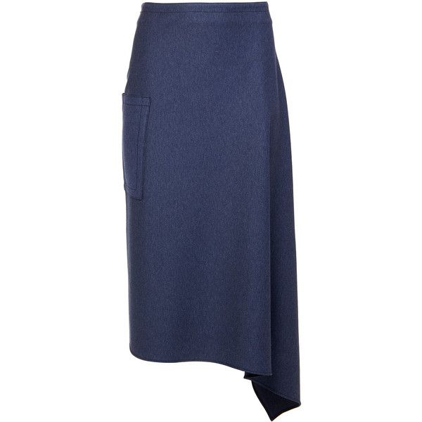 Tibi Calvary Twill Origami Skirt (23.710 RUB) ❤ liked on Polyvore featuring skirts, origami skirt, tibi, stretchy skirts, travel skirt and blue skirt