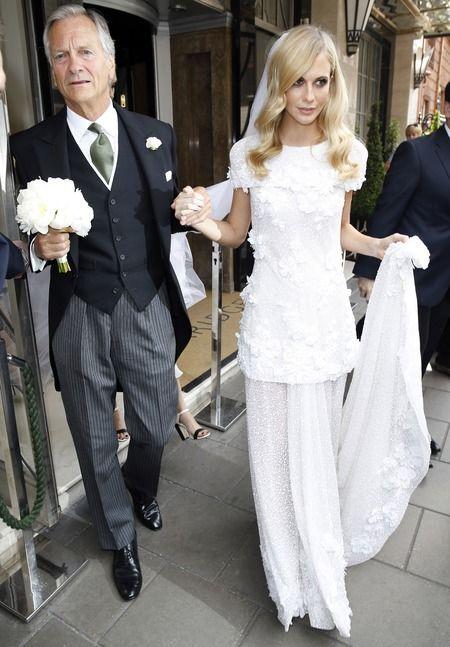 Poppy delevingne wears white chanel dress to be sister Poppy delevingne's bridesmaid - celebrity wedding news - celebrity bridesmaids - wedd...