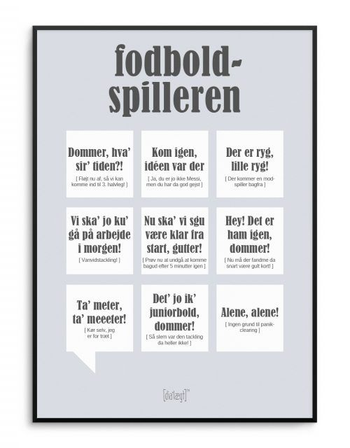 citater om fodbold Sjov plakat med fodbold citater fra Dialægt | Dialægt | Quotes  citater om fodbold