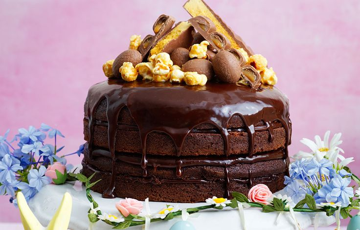 Chocolate Cake with Caramel Ganache
