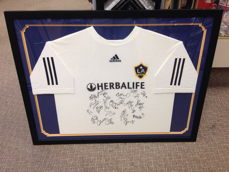 Autographed La Galaxy T Shirt Framed Creative Jersey