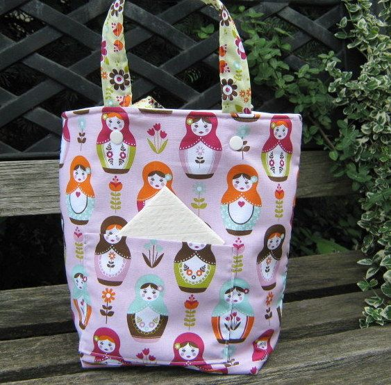 Soft Lunch Box For Girls Insulated And by bungalowquilts on Etsy, $22.00