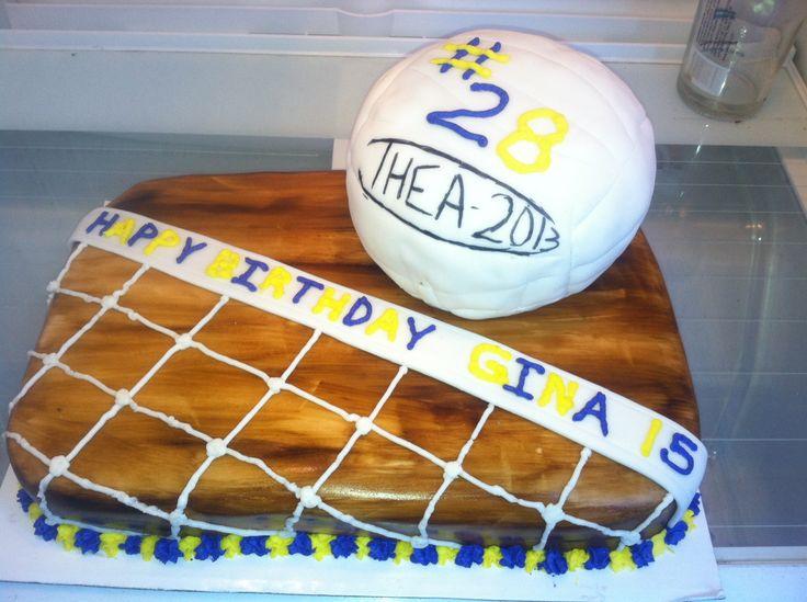 Ginas volleyball cake