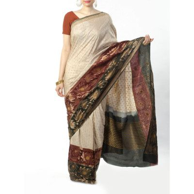 Buy Indian Handmade Tussar Silk Fabrics