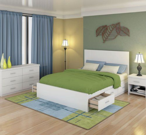 Sonax 6q 011 Lwb Queen Storage 4 Piece Bed Set With Flat Headboard