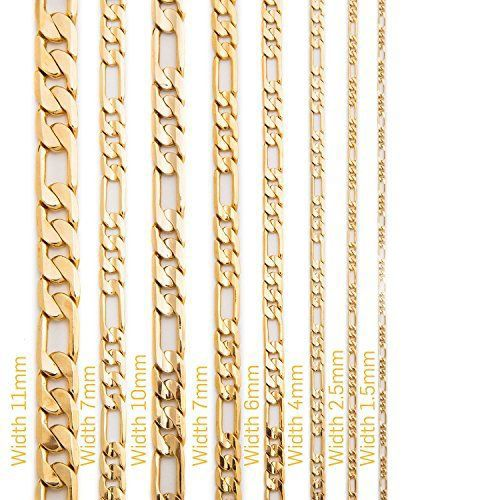 14kt Yellow Gold Figaro Chain 1.3 mm Width 18.0 Inch Long (1.9 Grams) by RG&D..|||| #14kt #gold #chain #jewelry #metal #goldchain #whitegold #yellowgold #mens #women #his #her #style #fashion #online #shopping #chains #goldchains #follow #pinterest #richmondgoldanddiamond