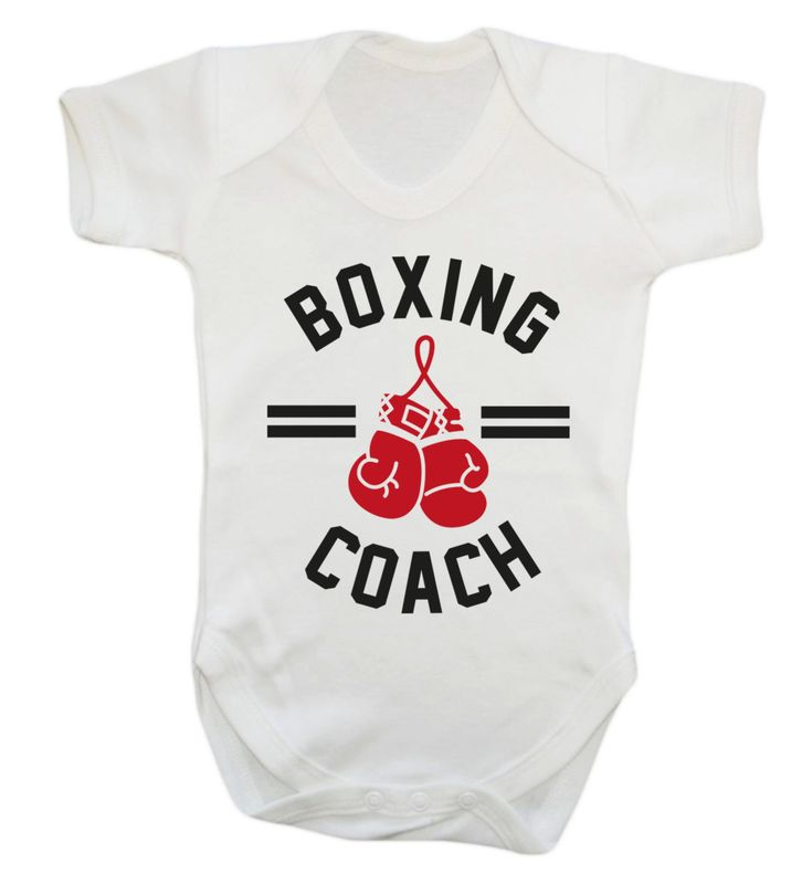 New to FloxCreative on Etsy: Boxing coach baby vest grow cute joke instructor fitness workout punch jab gloves punch bag heavyweight champion gym sweat gift 1075 (7.95 GBP)