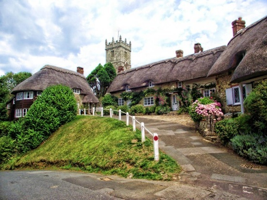 Sleepy charm. A village on the Isle of Wight, England.