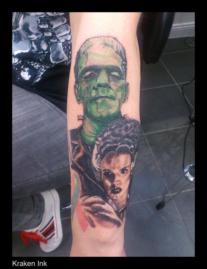 Frankenstein and his bride www.kraken-ink.co.uk