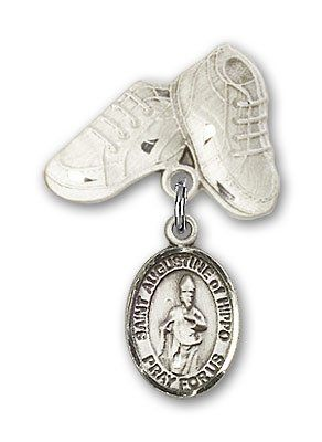 ReligiousObsession's Sterling Silver Baby Badge with St. Augustine of Hippo Charm and Baby Boots Pin >>> Read more reviews of the product by visiting the link on the image. (This is an Amazon Affiliate link and I receive a commission for the sales)