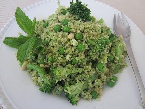 ... couscous, mint leaves, Parmesan cheese, lemon juice and pine nuts