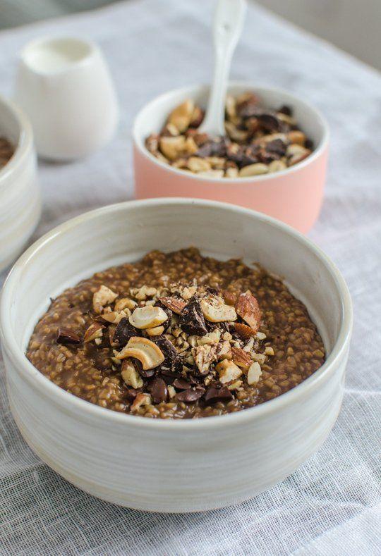 Recipe: Mocha Crunch Steel-Cut Oatmeal — Breakfast Recipes from The Kitchn