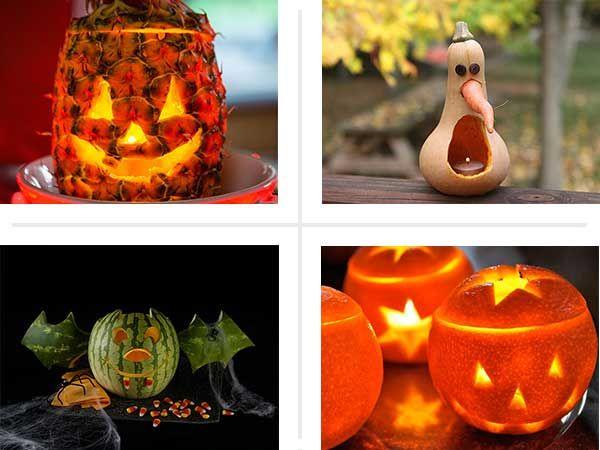 Creative halloween produce carving ideas