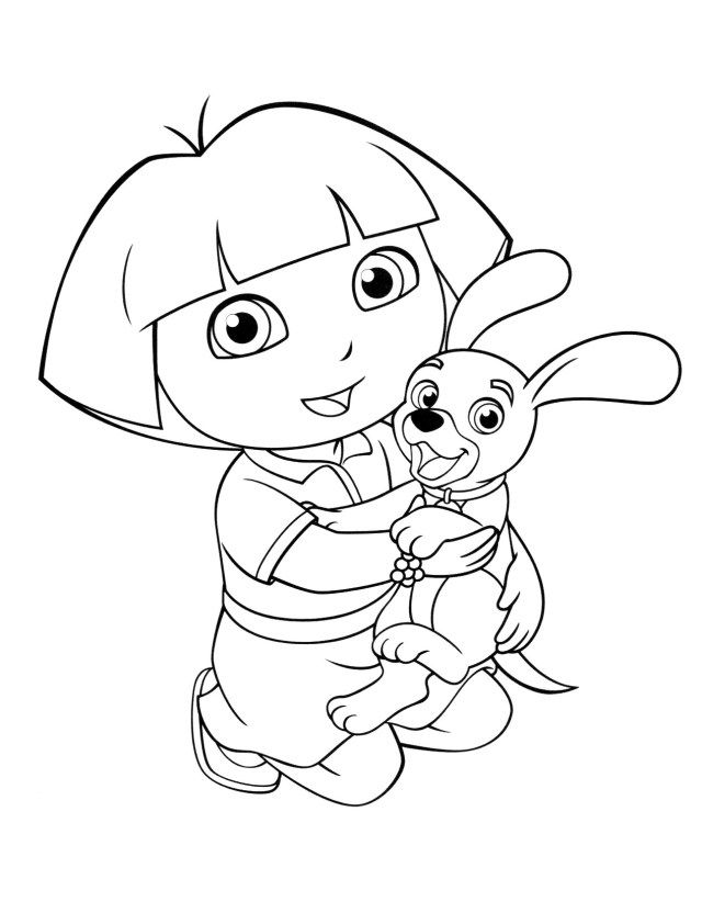 27 Great Picture Of Dora Coloring Page Dora Coloring Minnie