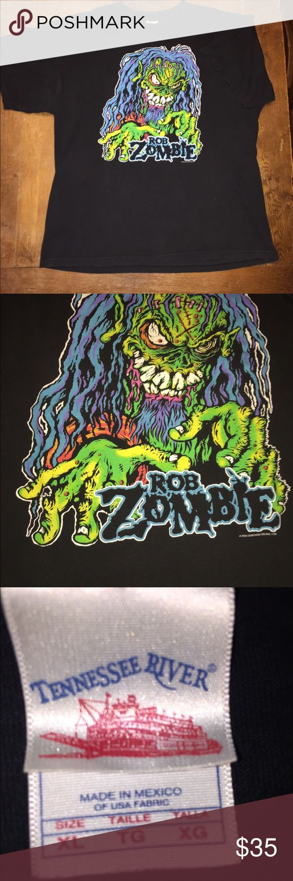 Rob Zombie Vintage Concert T In great condition Tennesee River Shirts Tees - Short Sleeve