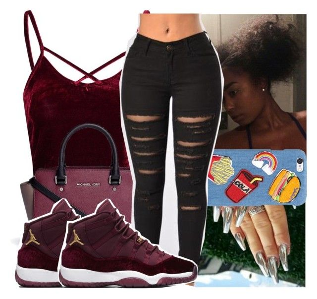 """""""lil friend X molly brazy"""" by kodakdej ❤ liked on Polyvore featuring Glamorous, Michael Kors and Wet Seal"""