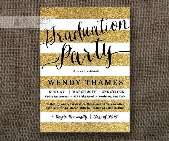17 Best images about Digibuddha Graduation Invitations – Black and Gold Graduation Invitations